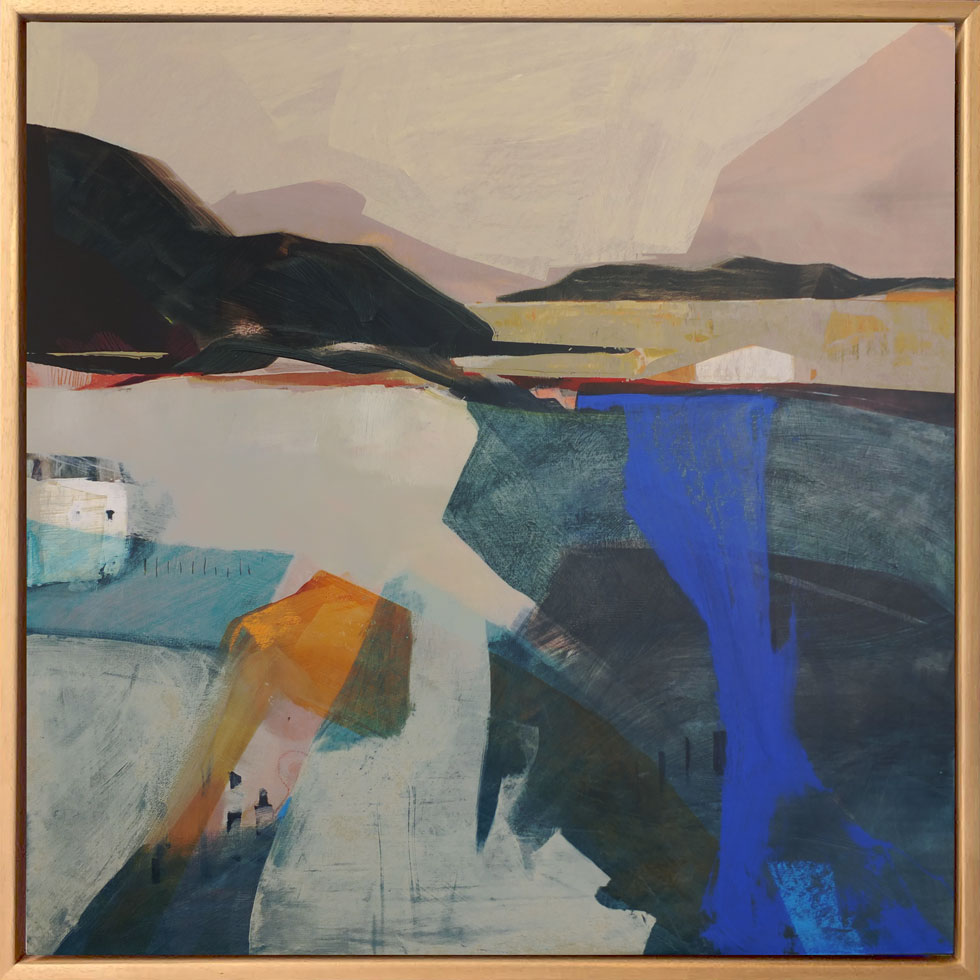 Abstract Painting Inspired By Sea And Landscape By British Artist Louise Body