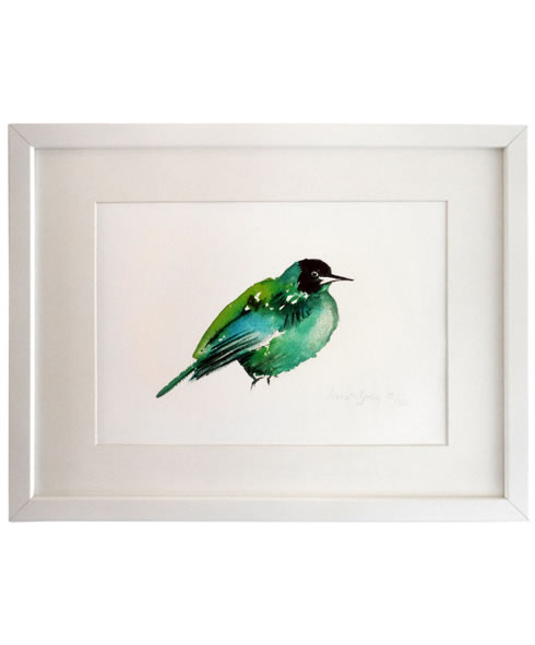 Green Bird. art prints.