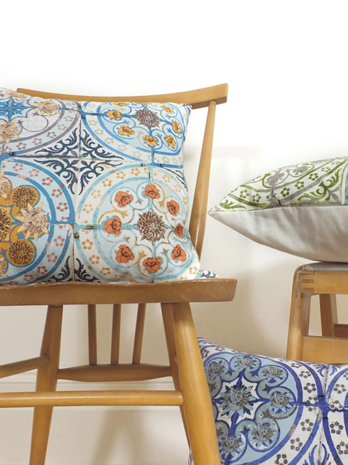 Mixed Folk cushion. cushion.