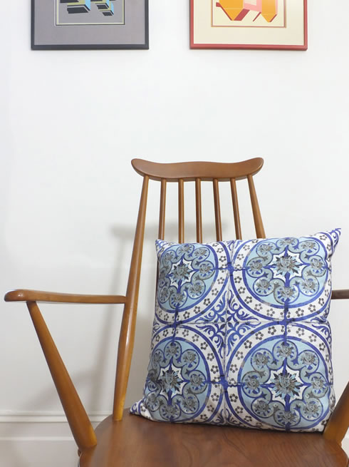 Old Blue cushion. cushion.