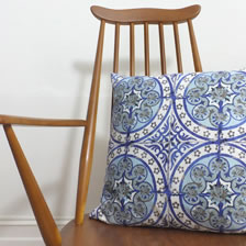 Old Blue cushion. Cushions