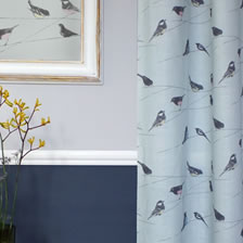 Garden Birds Blue. fabric