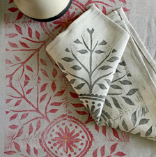 Leaves Napkins. fabric