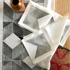 Geometric Napkins. fabric