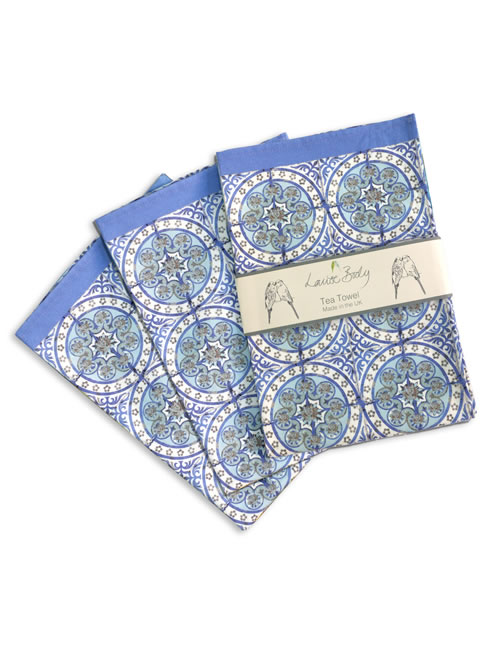 Old Blue tea towel 3 pack. tea towels.