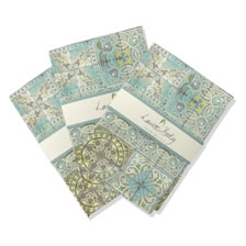 Patchwork jade tea towel 3 pack. Tea_Towels