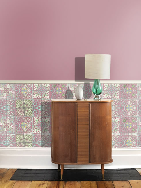 Patchwork Dusty Pink. wallpaper.