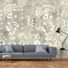 Stencilled Wall Sand. wallpaper