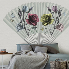 Paper Fan Chalk. wallpaper