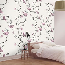 Pavilion Birds Stone. wallpaper