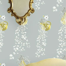 Traily Plant Silver. wallpaper