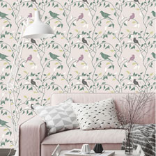 Walk in the Woods Putty and Sage. wallpaper