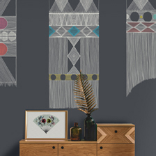 Macrame Charcoal. wallpaper