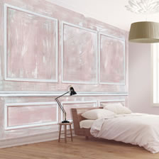 Panelled Wall Coral. wallpaper