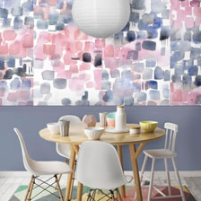 Watercolour wallpaper Fuchsia. wallpaper